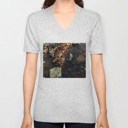 Autumn Colors in the Water Unisex V-Neck