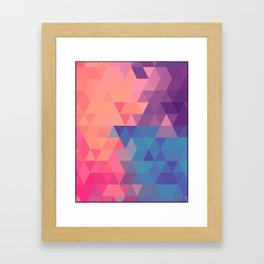 Colorul triangle Framed Art Print
