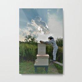 Bee Keeper,  Upstate New York Metal Print