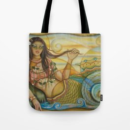 Mermaid Island Tote Bag