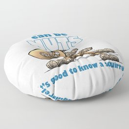 the world can be nuts Floor Pillow