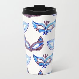 Masquerade Mask Trio – Navy & Grey Palette Travel Mug