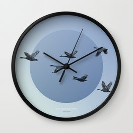 [4.10—4.14] Wild Geese Fly North Wall Clock