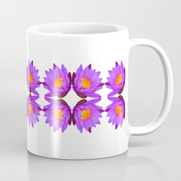 Purple Lily Flower - On White Coffee Mug