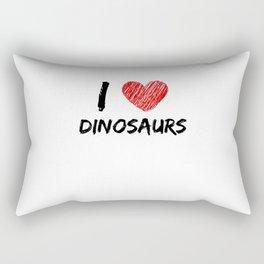 I Love Dinosaurs Rectangular Pillow