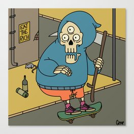 Reapin' Skatin' Chillin' Canvas Print