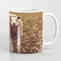 lamb Mugs featuring Lamb  by VictoryS.