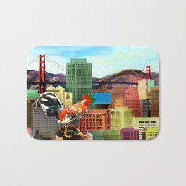 San Francisco City Chicken Bath Mat