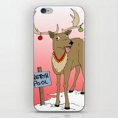Christmas Reindeer iPhone Skin
