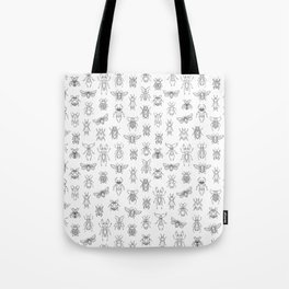 Insects pattern (White) Tote Bag