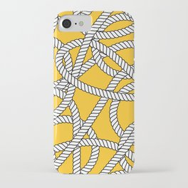 Nautical Yellow Rope Pattern Repeat iPhone Case