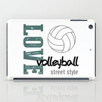 volleyball iPad Cases featuring Love Volleyball Street Style by raineon