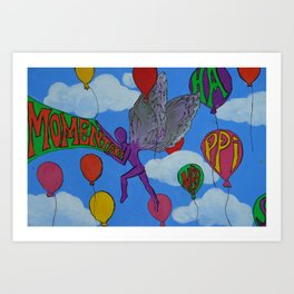Momentary Happiness.  Art Print