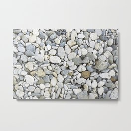 Grey pebbles Metal Print
