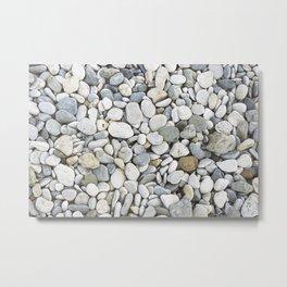 Grey pebbles Metal Print
