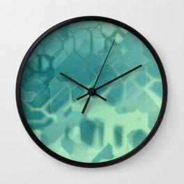 future fantasy turquoise Wall Clock