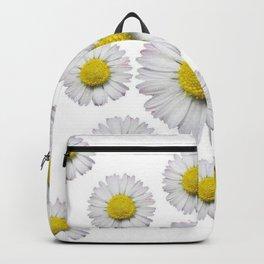 ALL WHITE SHASTA DAISY FLOWERS ART Backpack