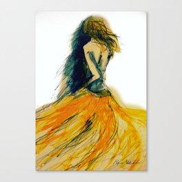 Yellow Swirl Dress Canvas Print