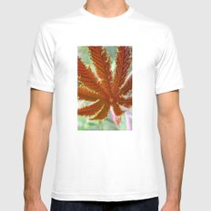Red Leaf SMALL White Mens Fitted Tee