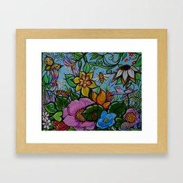 Fairy Garden in Spring Framed Art Print
