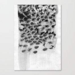 Melting black Canvas Print