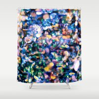 sparkle Shower Curtains featuring Sparkle by Stephen Linhart