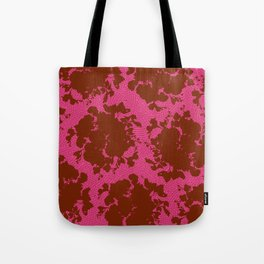 bouquet silhouette in berry Tote Bag