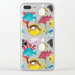 Coral Reef #1 Clear iPhone Case
