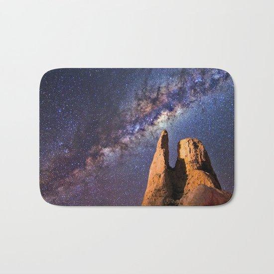 Night sky iii - galaxy Bath Mat