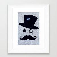 gentleman Framed Art Prints featuring Gentleman by Lara Brambilla