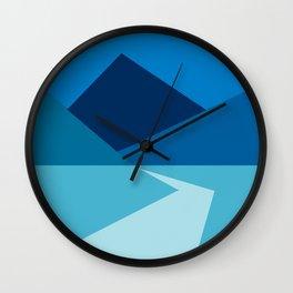 Blue Nature Wall Clock