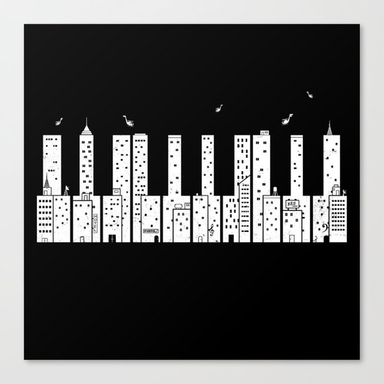 Piano Skyline Canvas Print