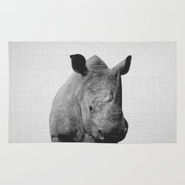 Rhino - Black & White Rug