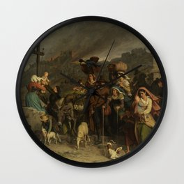 fire in the Sabine mountains Wall Clock