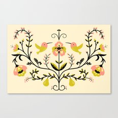 Hummingbirds and Pears Canvas Print