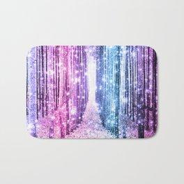 Magical Forest : Pastel Pink Lavender Aqua Periwinkle Ombre Bath Mat