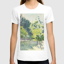 """Gustave Caillebotte """"Allée bordée d'arbres - Alley lined by trees"""" T-shirt"""