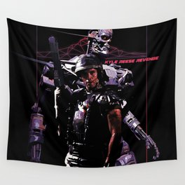 Kyle Reese Revenge Aliens Terminator 80s synthwave Wall Tapestry