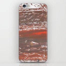 Orange Gray vague watercolor iPhone Skin