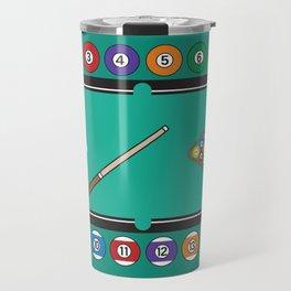 Billiards Table and Equipment Travel Mug