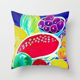 My Fruit Bounty             by Kay Lipton Throw Pillow