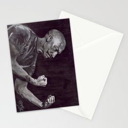 Original Art, Mustache, THE HANDSOME BOXER Stationery Cards