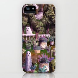 plants and ghosts iPhone Case
