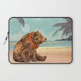 Beach Bear Laptop Sleeve