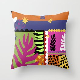 Cut It Out Throw Pillow