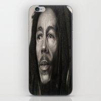 marley iPhone & iPod Skins featuring Marley Drawing by Wega13Art