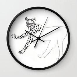 Half-dressed leopard Wall Clock