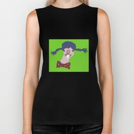 Spunky Turkey Purple Hair GB Biker Tank