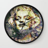marilyn Wall Clocks featuring MARILYN by Vonis