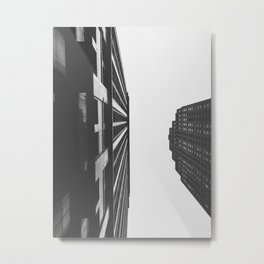 Downtown Detroit Skyscrapers Dime Building and Penobscot Metal Print